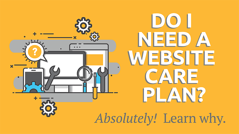Website Care Plan Illustration
